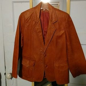 Tony Lama Brown Leather Jacket